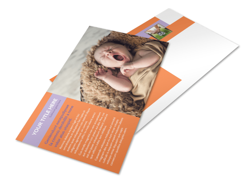 Baby Photography Postcard Template Preview 1