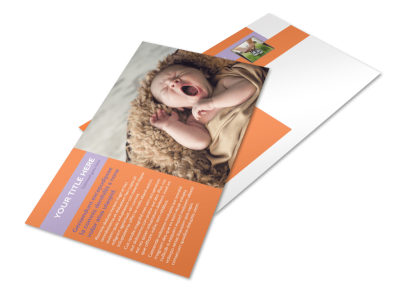 Baby Photography Postcard Template preview