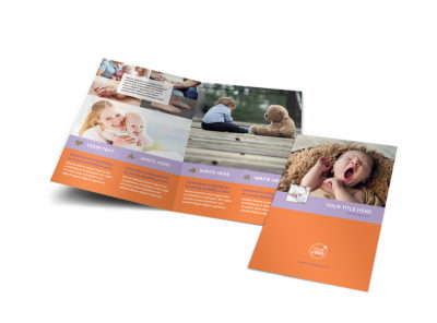 Baby Photography Bi-Fold Brochure Template