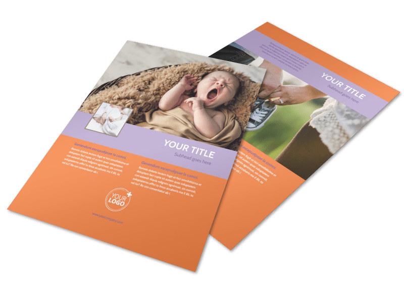 Baby Photography Flyer Template