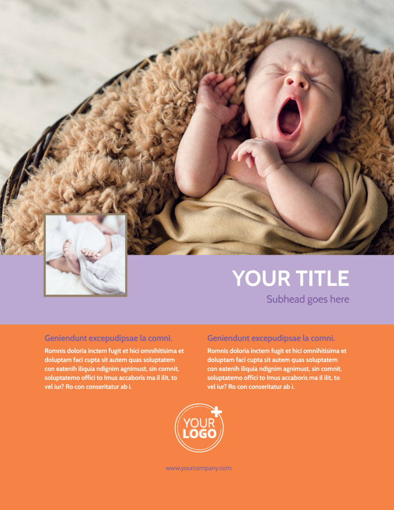 Baby Photography Flyer Template Preview 2