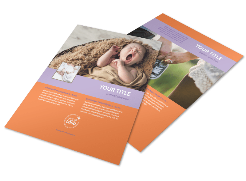 Baby Photography Flyer Template Preview 1