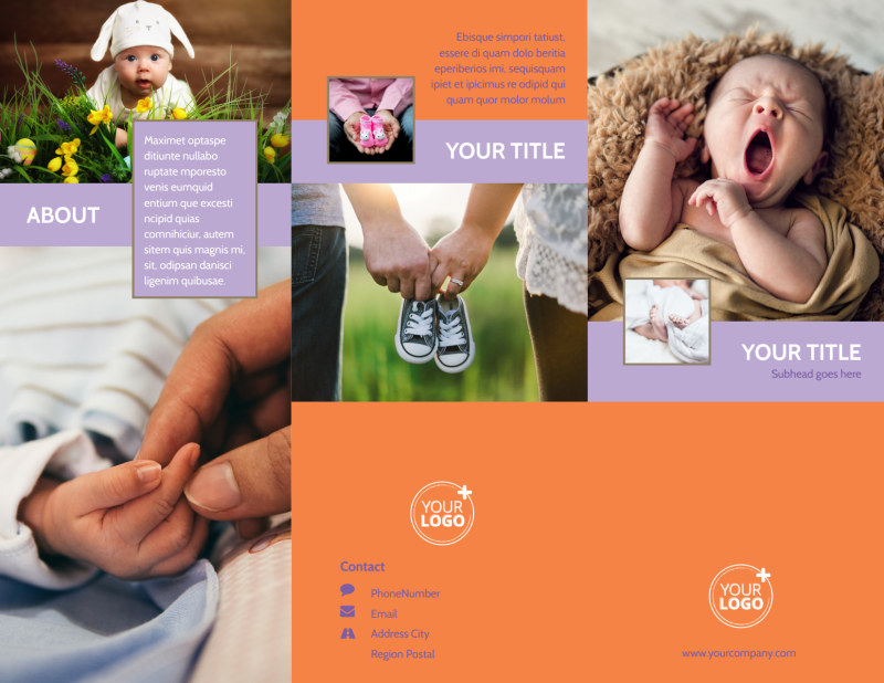 Baby Photography Brochure Template Preview 2