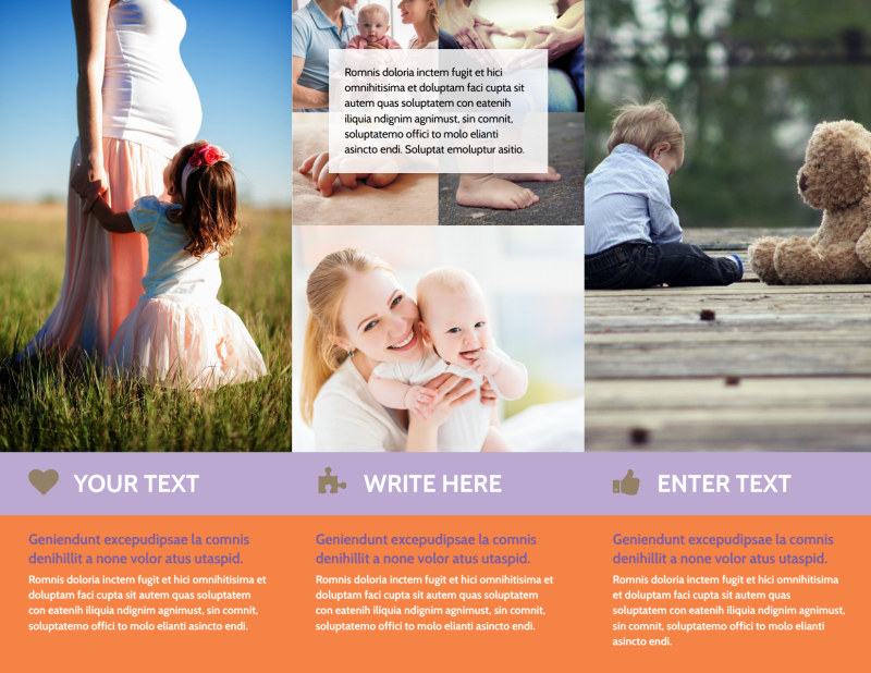 Baby Photography Brochure Template Preview 3
