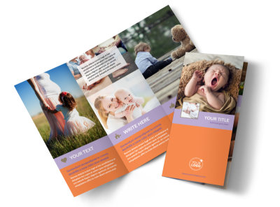Baby Photography Tri-Fold Brochure Template preview