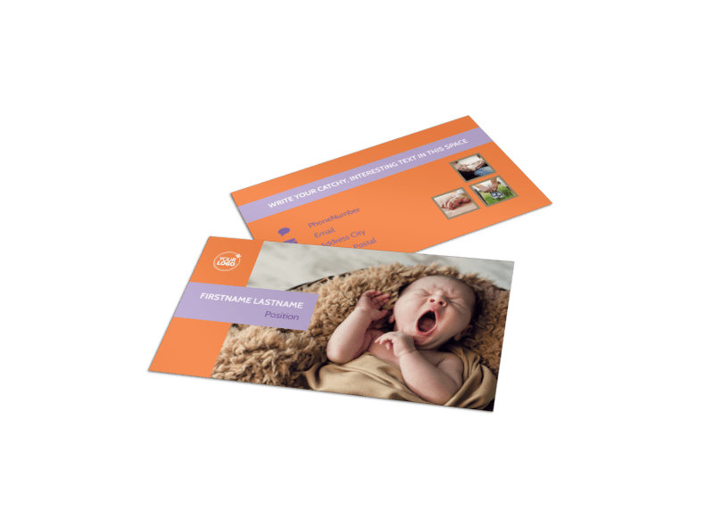 Baby photography business card template mycreativeshop baby photography business card template reheart Image collections
