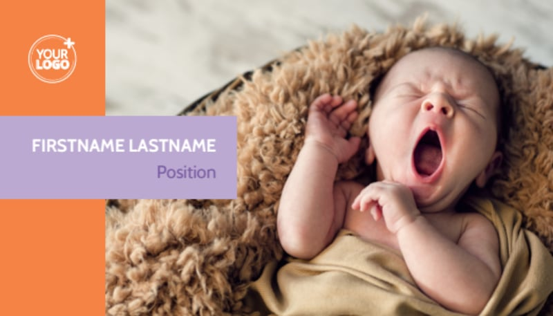 Baby Photography Business Card Template Preview 2