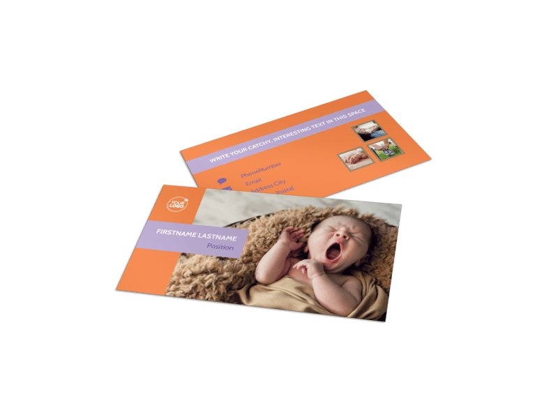 Baby Photography Business Card Template Preview 1
