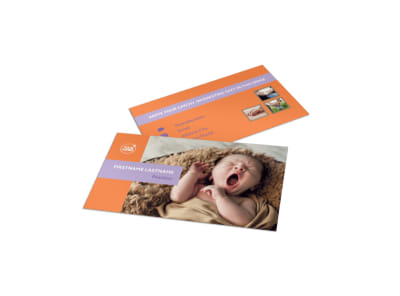 Baby Photography Business Card Template preview