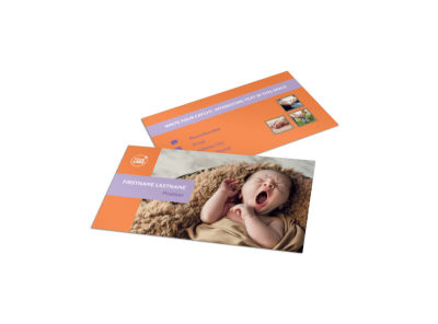 Baby Photography Business Card Template