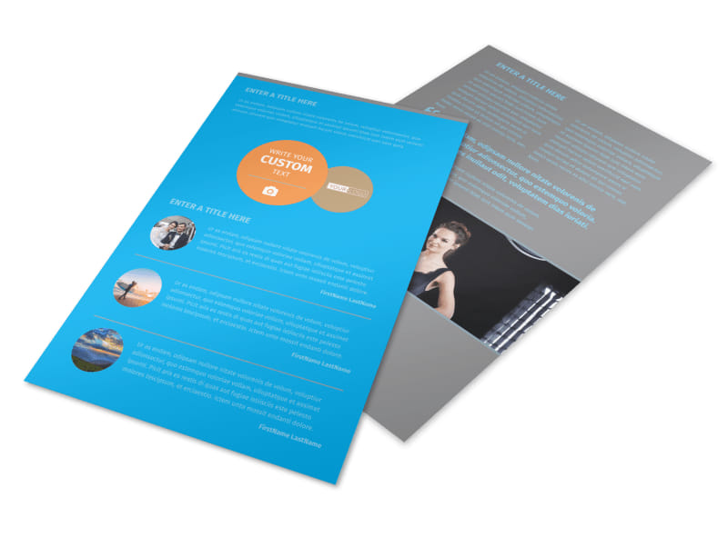 General Photography Flyer Template 3