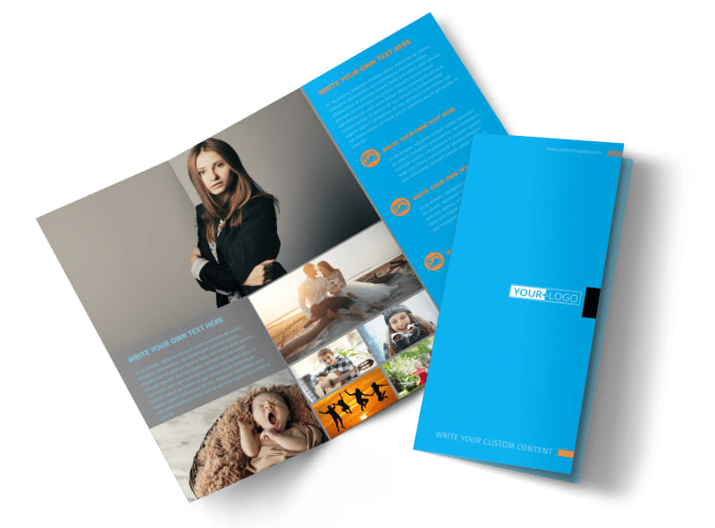 General Photography Tri-Fold Brochure Template