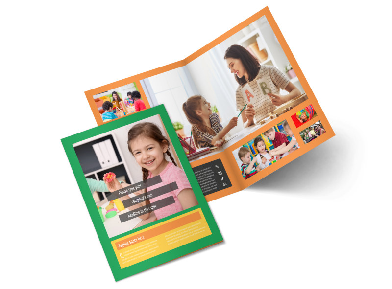 Learning Center & Elementary School Brochure Template 2