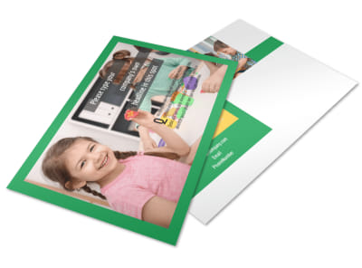 Learning Center & Elementary School Postcard Template 2