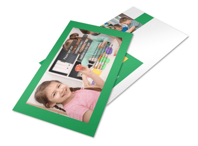 Learning Center & Elementary School Postcard Template