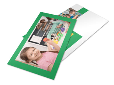Learning Center & Elementary School Postcard Template
