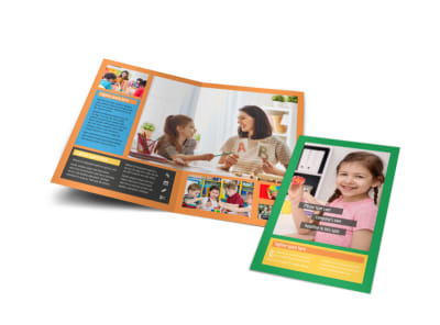 Learning Center & Elementary School Bi-Fold Brochure Template