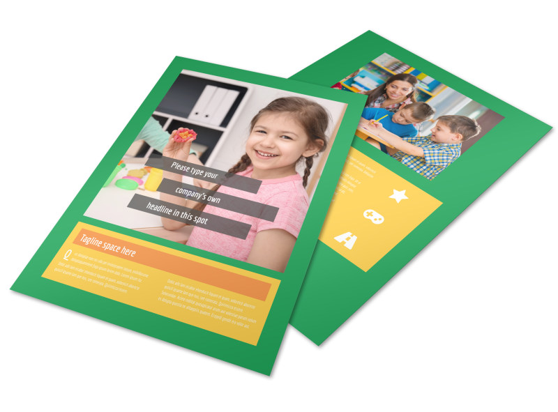 Preschool Brochure Template  Mycreativeshop