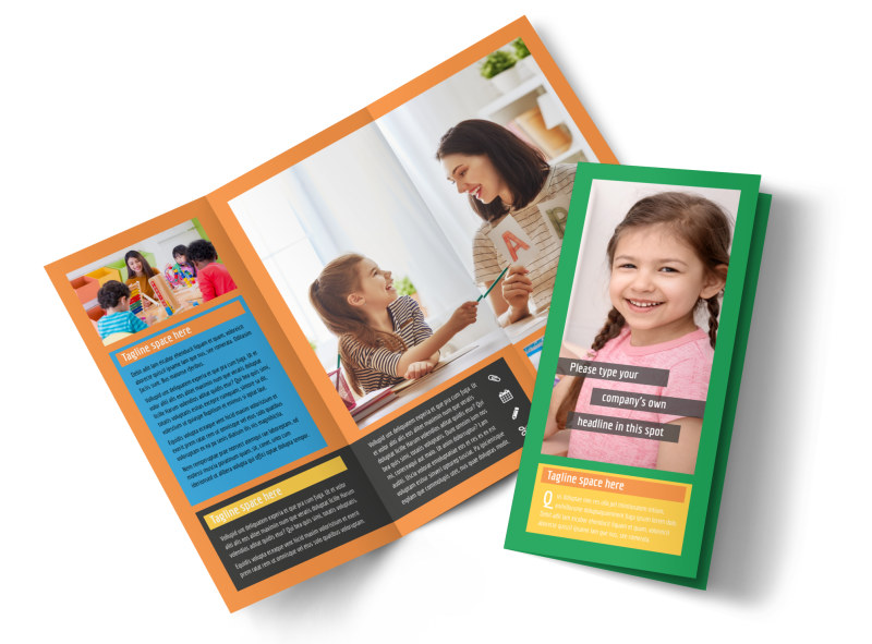 Learning Center & Elementary School Tri Fold Brochure Template