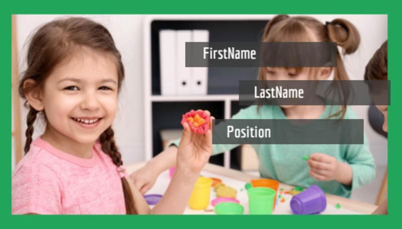 Preschool Business Card Template Preview 2