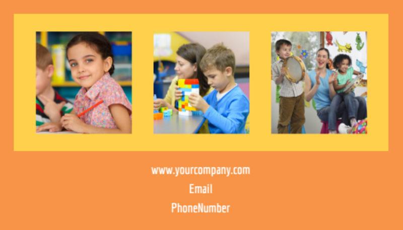 Preschool Business Card Template Preview 3