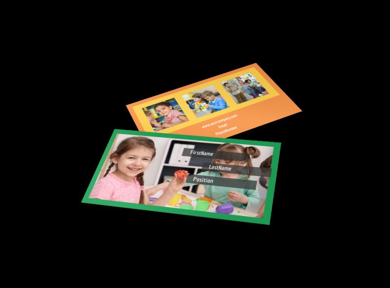Preschool Business Card Template Preview 1