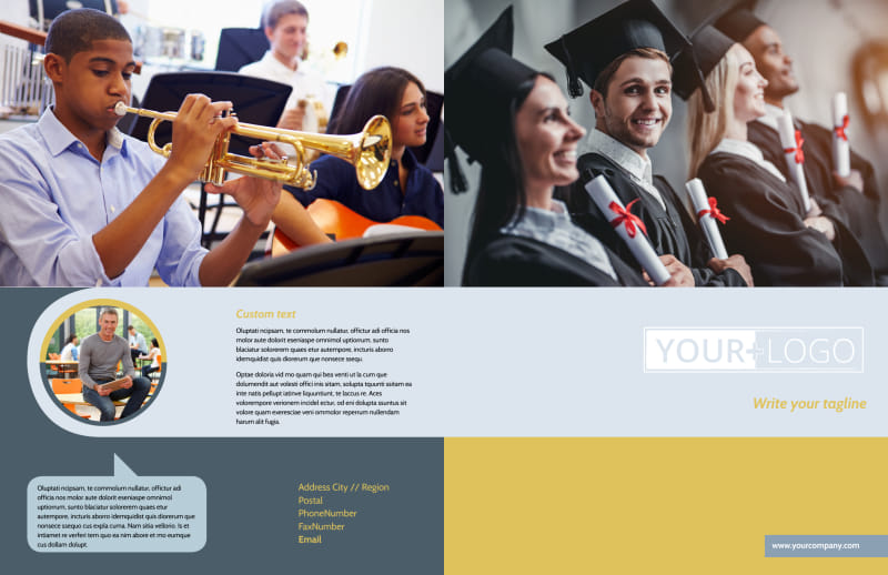 School Event Brochure Template Preview 2