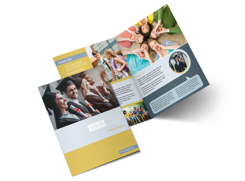 School Event Brochure Template Preview 1