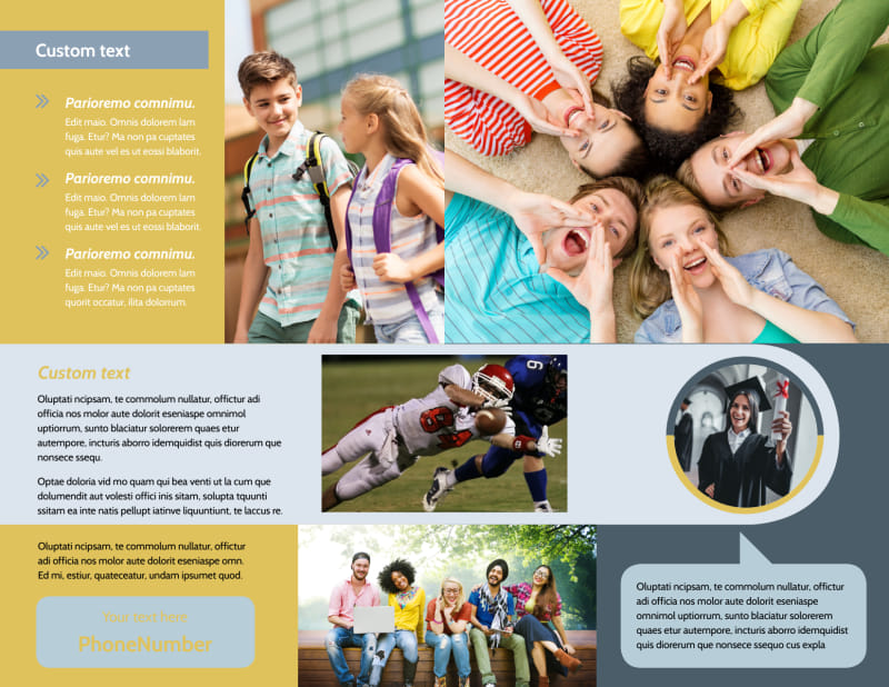School Event Brochure Template Preview 3