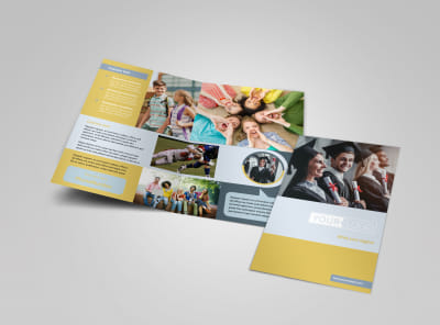 School Event Bi-Fold Brochure Template