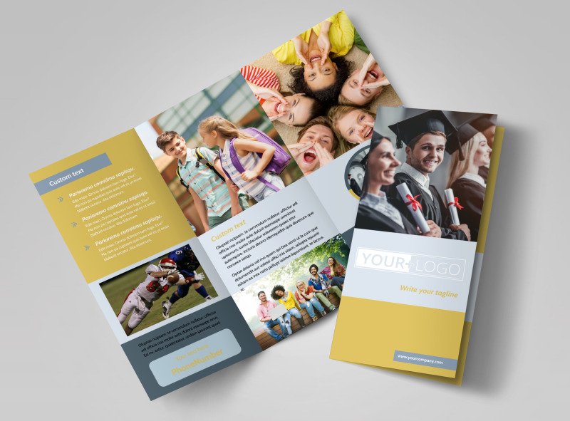 School Event Tri-Fold Brochure Template