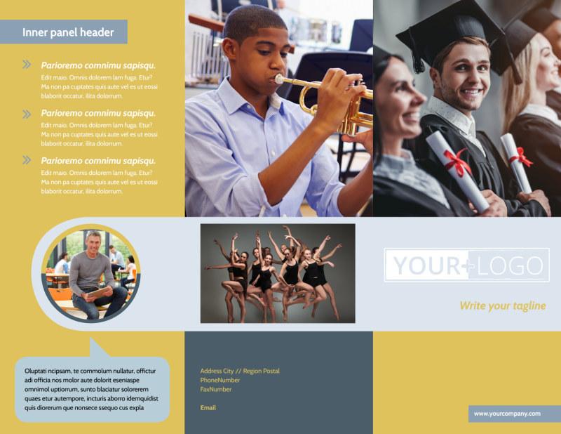 School Event Brochure Template Preview 2