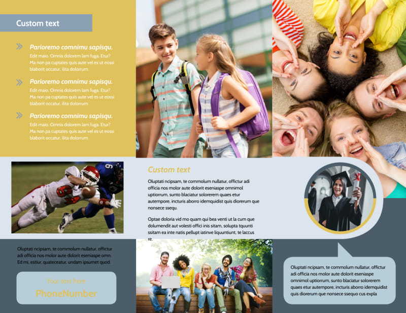 School Event Brochure Template Preview 3