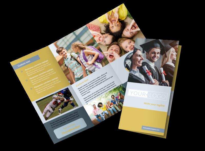 School Event Brochure Template Preview 1