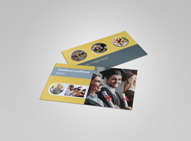School Event Business Card Template Preview 4