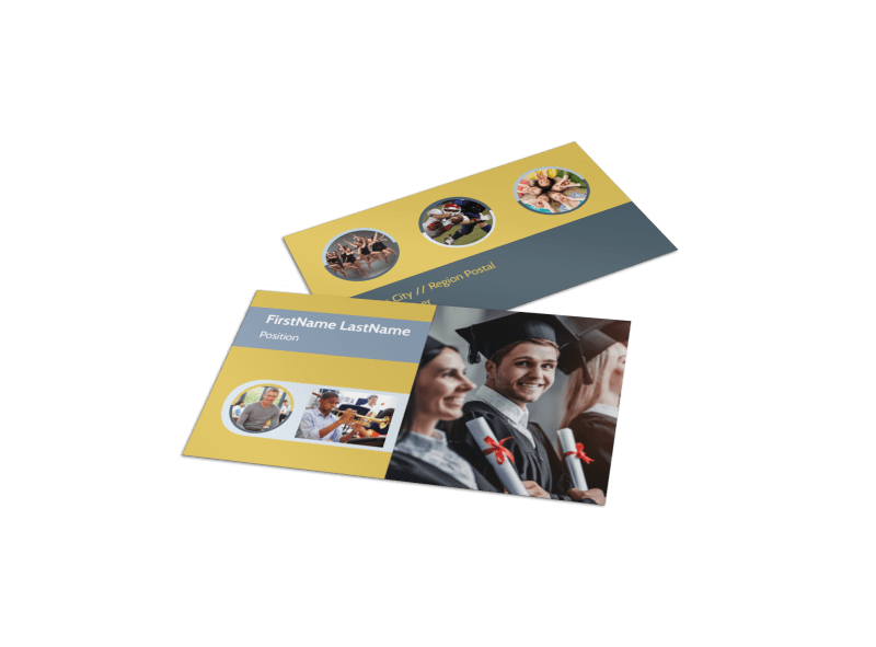 School Event Business Card Template Preview 1