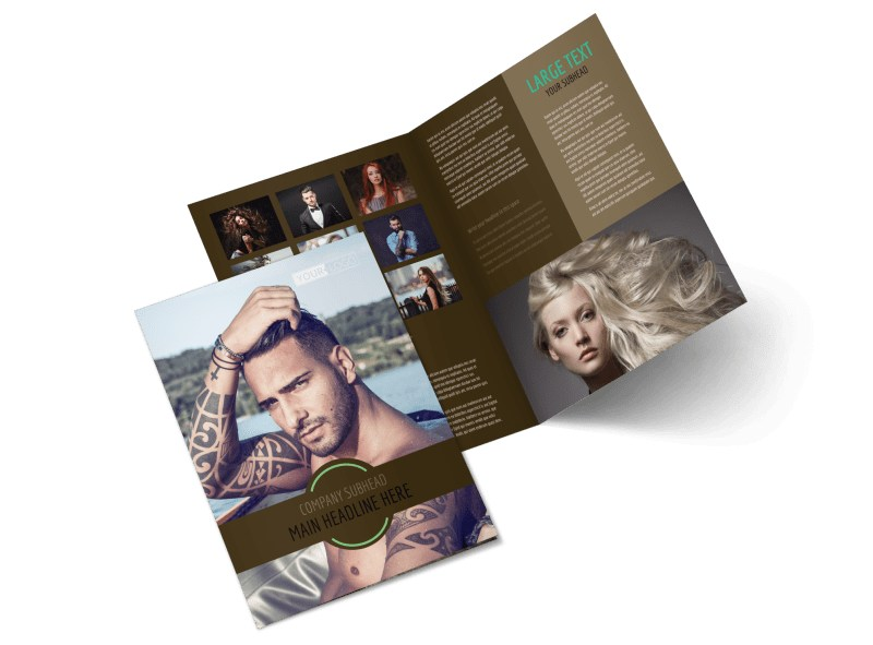 Model Photography Bi-Fold Brochure Template 2