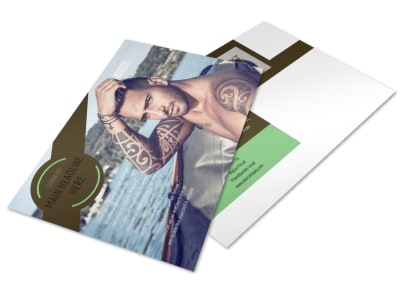 Model Photography Postcard Template 2 preview