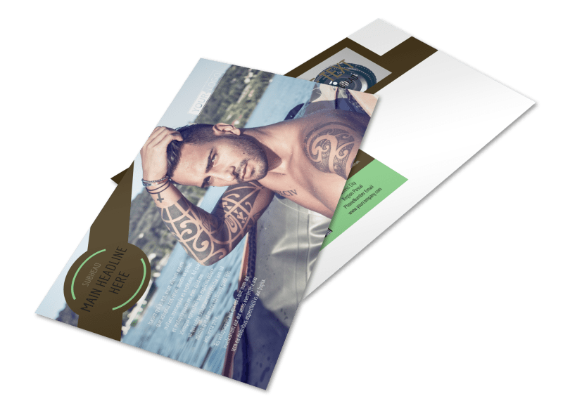 Model Photography Postcard Template Preview 1