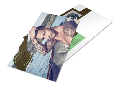 Model Photography Postcard Template