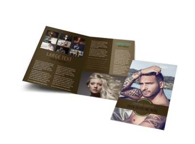 Model Photography Bi-Fold Brochure Template
