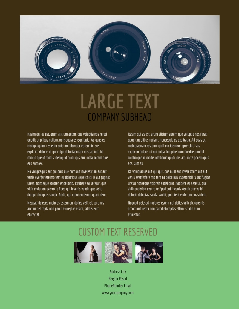 Model Photography Flyer Template Preview 3