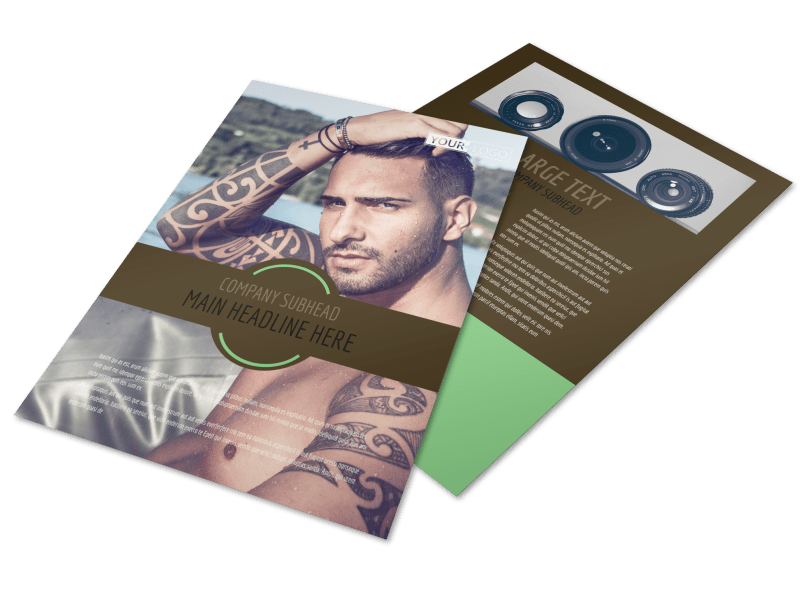 Model Photography Flyer Template Preview 1