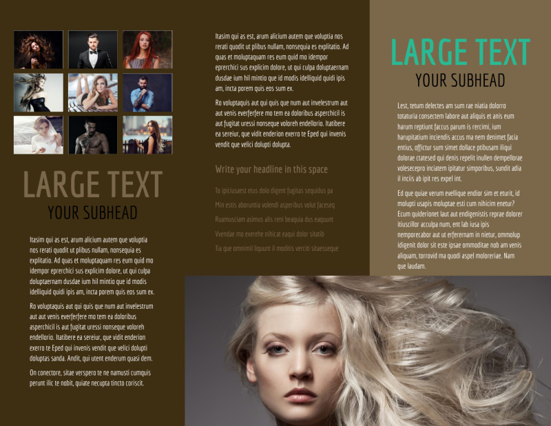 Model Photography Brochure Template Preview 3