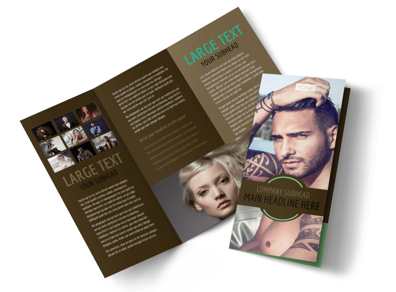 Model Photography Brochure Template Preview 1
