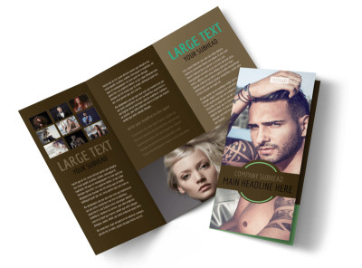 Model Photography Tri-Fold Brochure Template