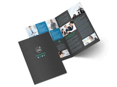 Portfolio Management Firm Bi-Fold Brochure Template 2