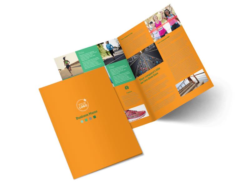 Your Next Running Club Bi-Fold Brochure Template 2