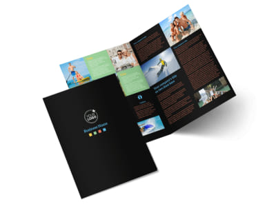 Travel Adventure Activities Bi-Fold Brochure Template 2