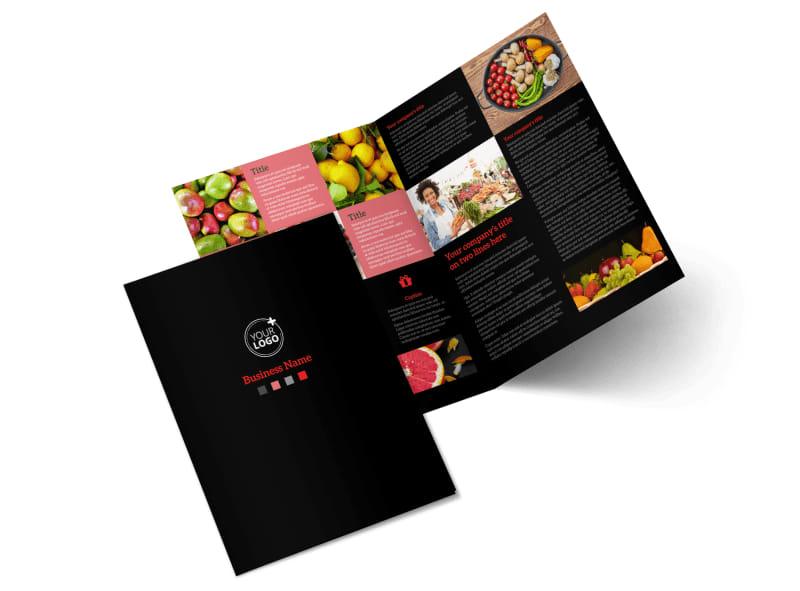 Fresh Produce Market Bi-Fold Brochure Template 2